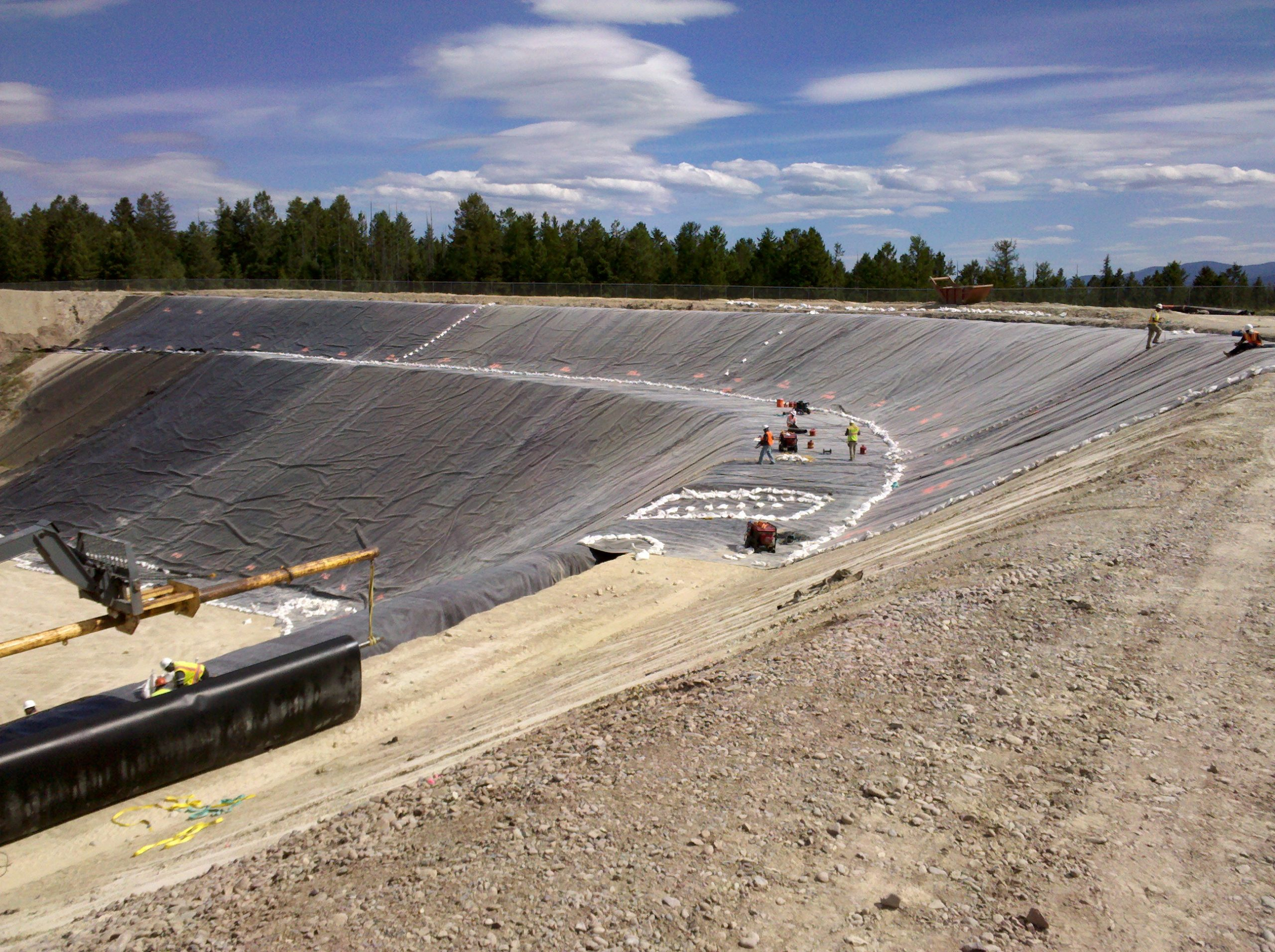 Image of lining at Flathead landfill