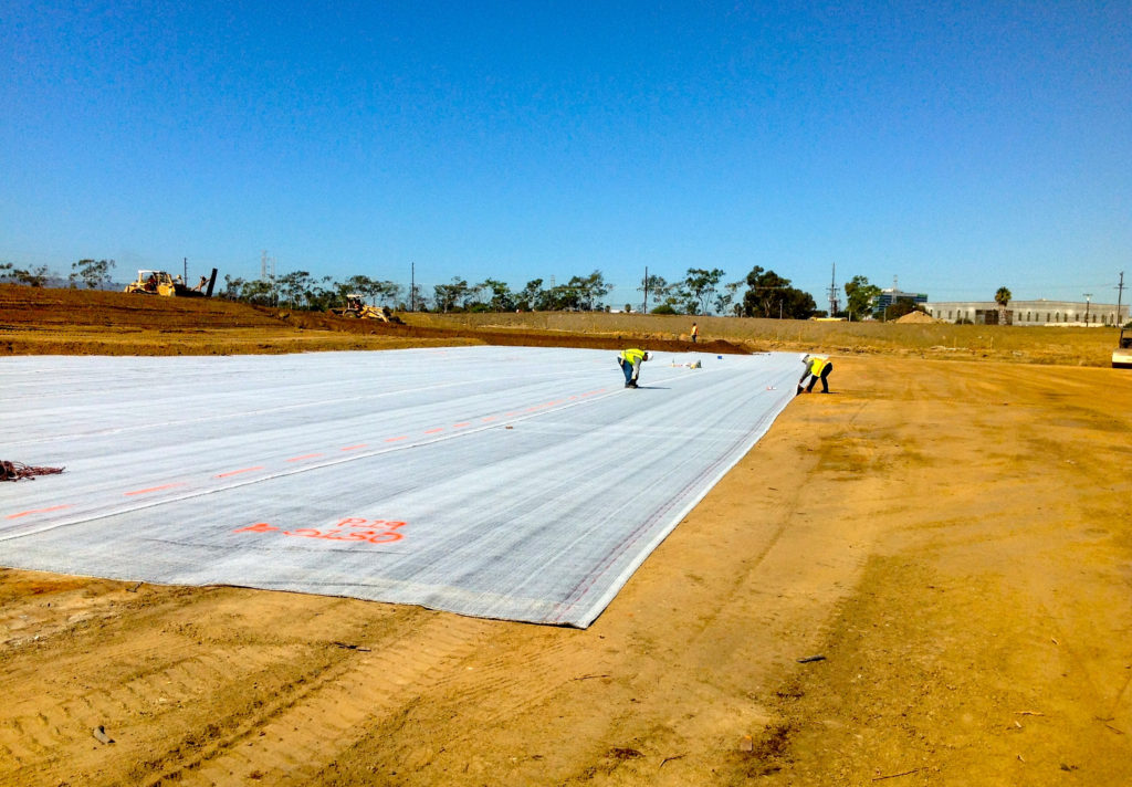 International Lining Technology crews work on the Dominguez Hills Golf Course in 2017.