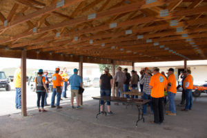 Getting together before shooting at the Spring Creek Trap & Skeet Range