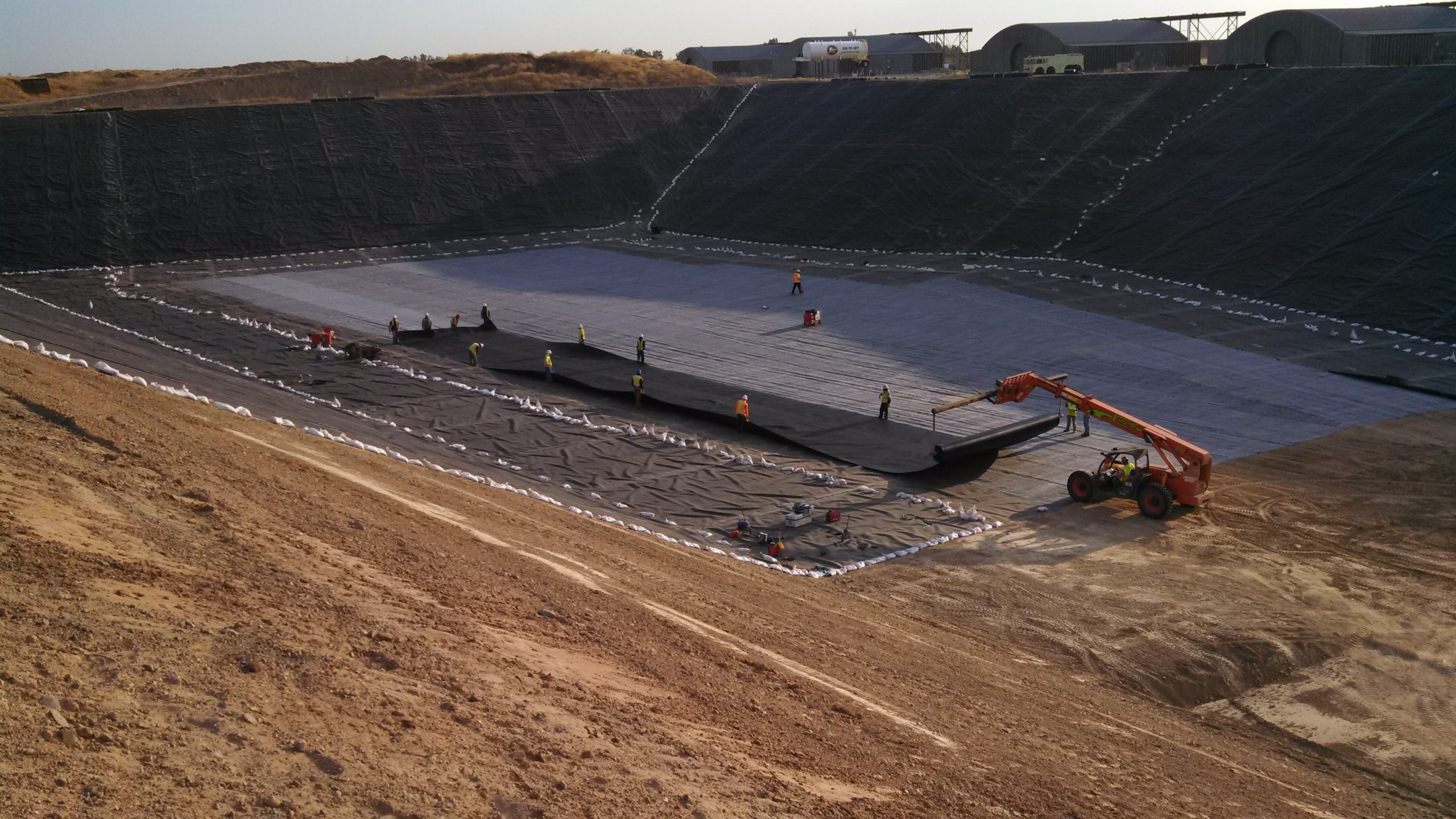 image of landfill lining