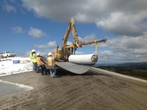 ILT crew pulls liner