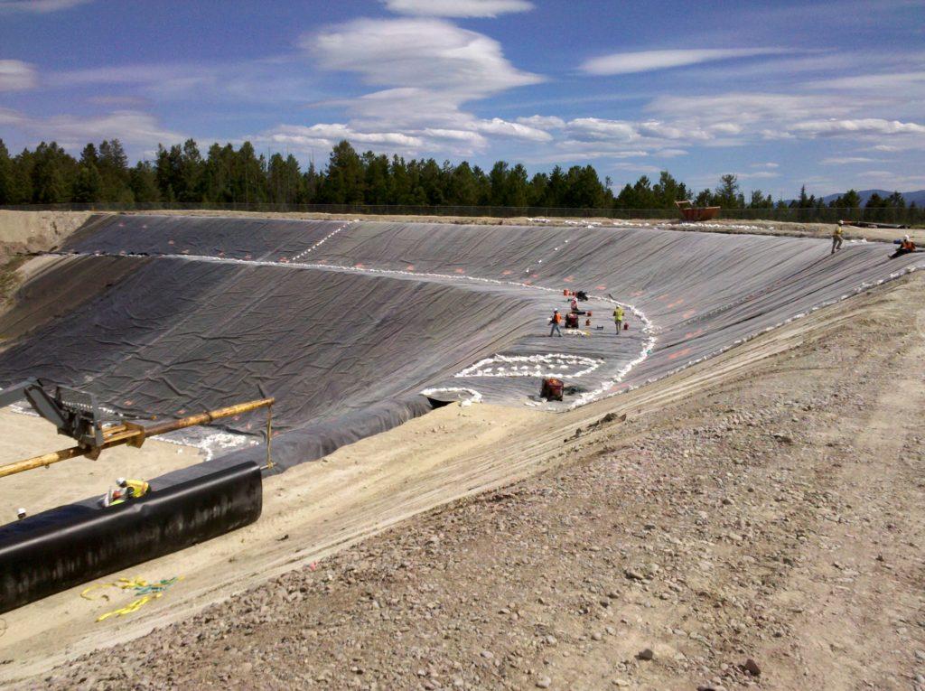 Image of lining at Flathead landfill
