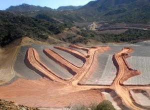 Aerial view of the Carlota Copper Mine
