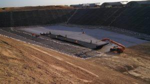 image of landfill lining